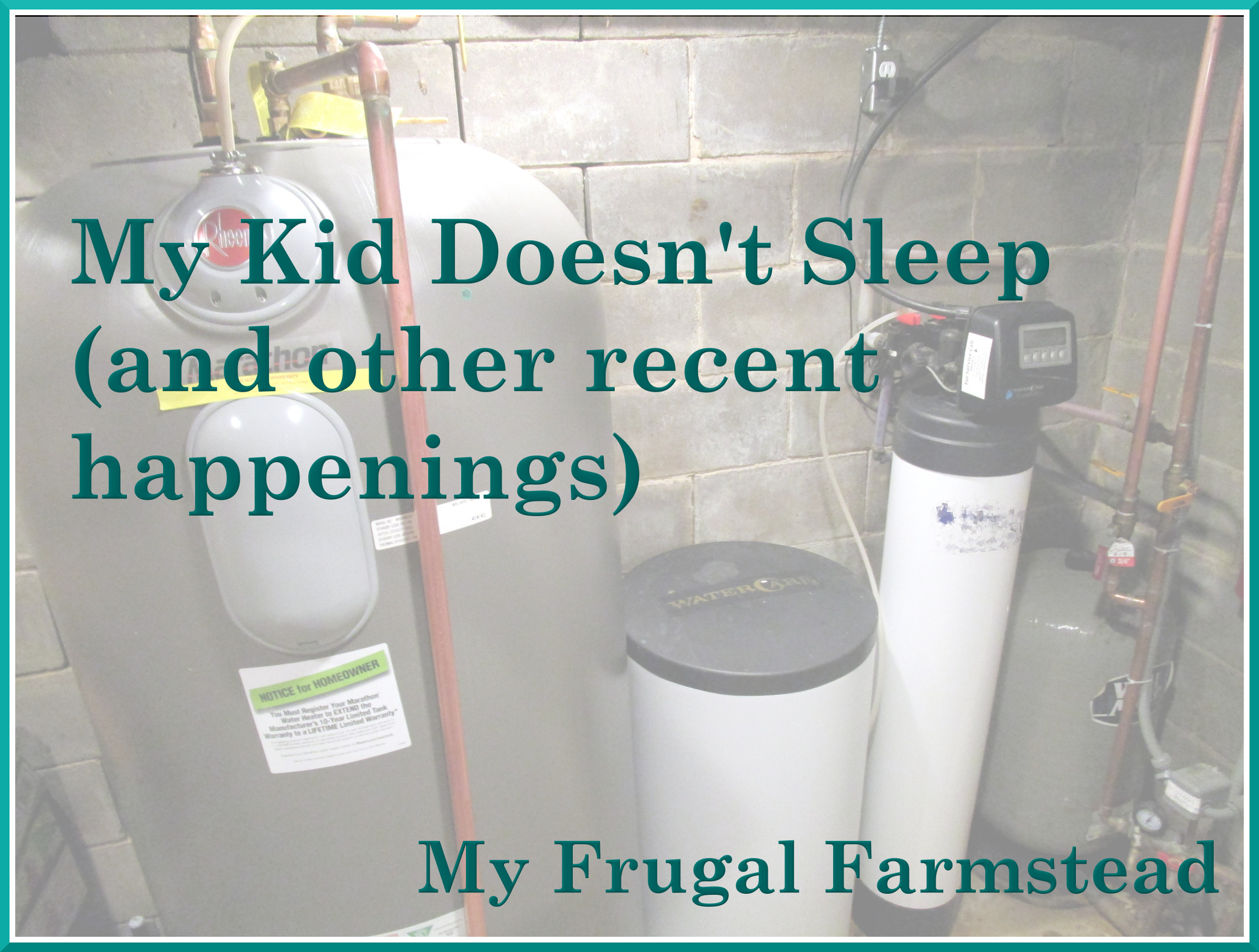 My Kid Doesn't Sleep (and other recent happenings)